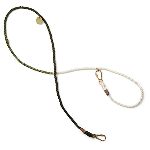 Chester Adjustable Dog Leash, Olive