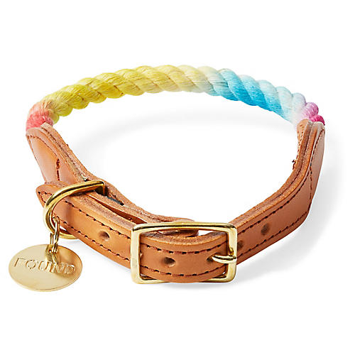 Chester Pet Collar, Rainbow