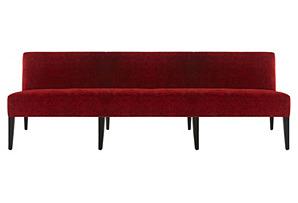 "Morgan 79"" Banquette, Crimson"