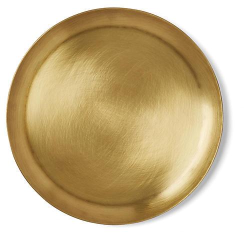 Round Plate, Brass