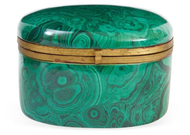 Malachite-Pattern Jewelry Casket