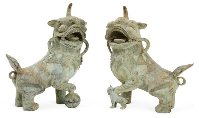 Iron Foo Dogs, Pair