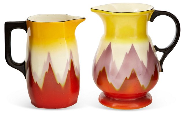 Ditmar Urbach Water Pitchers, Set of 2