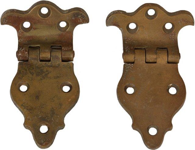 Bronze Hinged Hinges, Pair