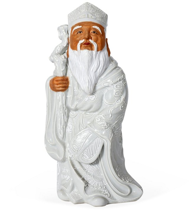Chinese Sage Porcelain Figure
