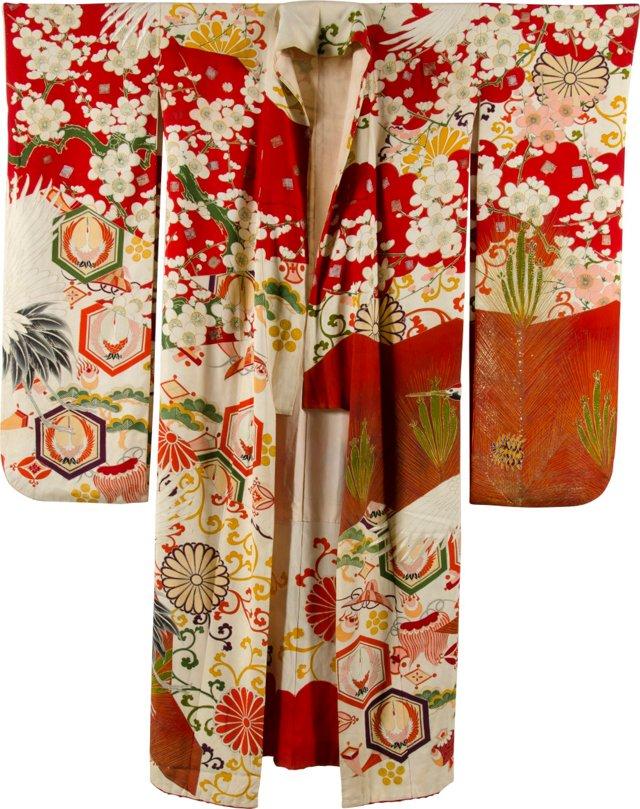 Antique Japanese Silk Kimono I