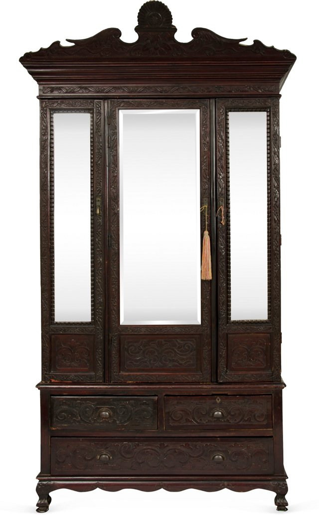 Chinese Chippendale Cabinet