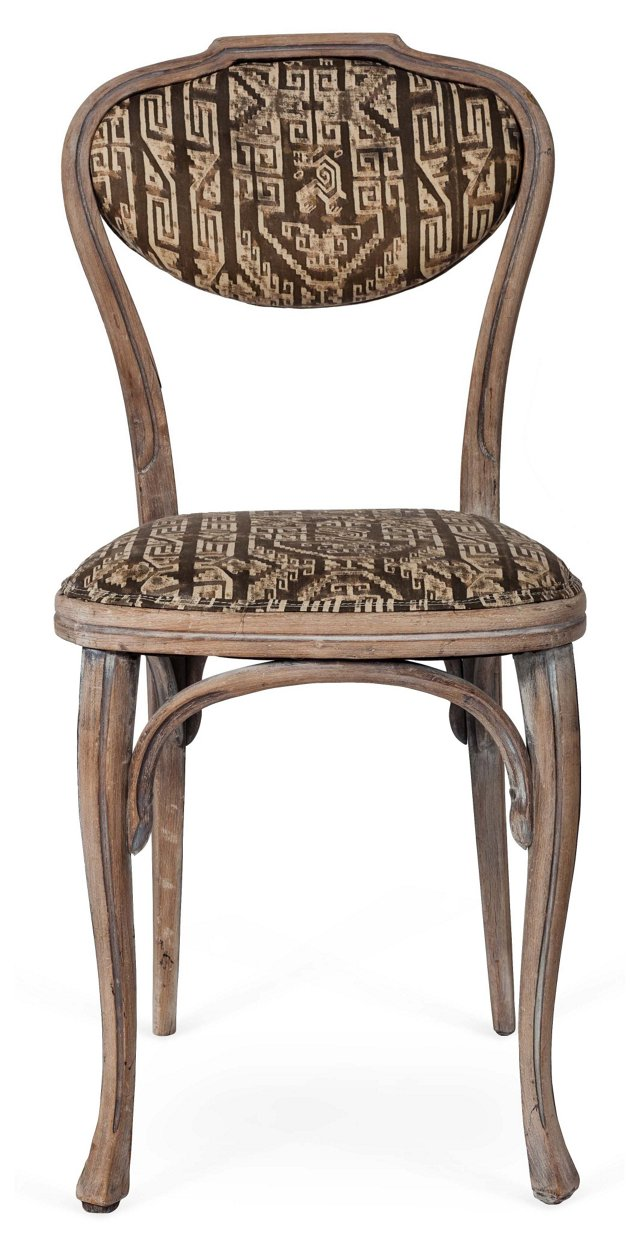 French Dining Chair w/ Fortuny Fabric