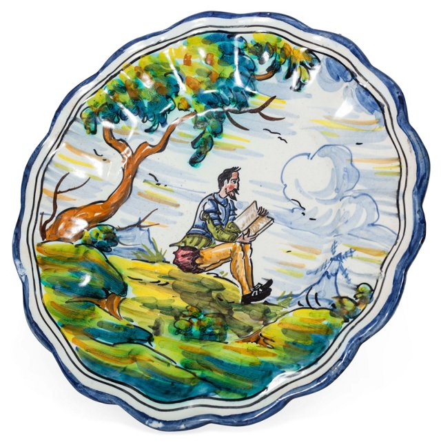 Hand-Painted Portuguese Plate