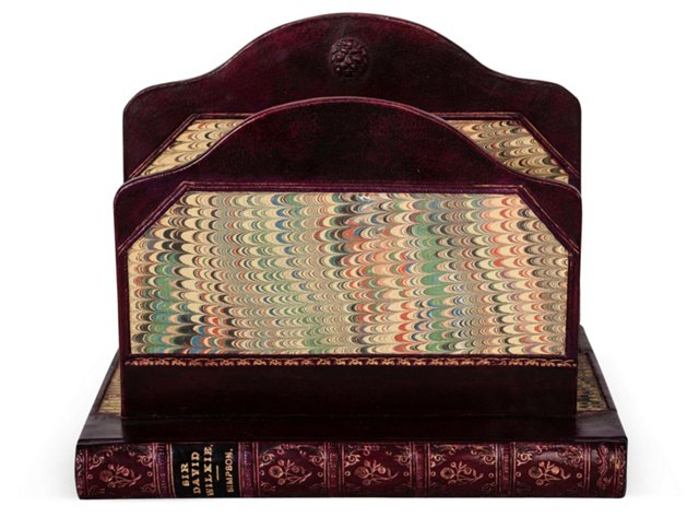 English Leather Book Holder