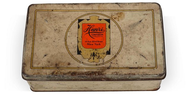 Vintage Henri Confiseur Chocolates Tin