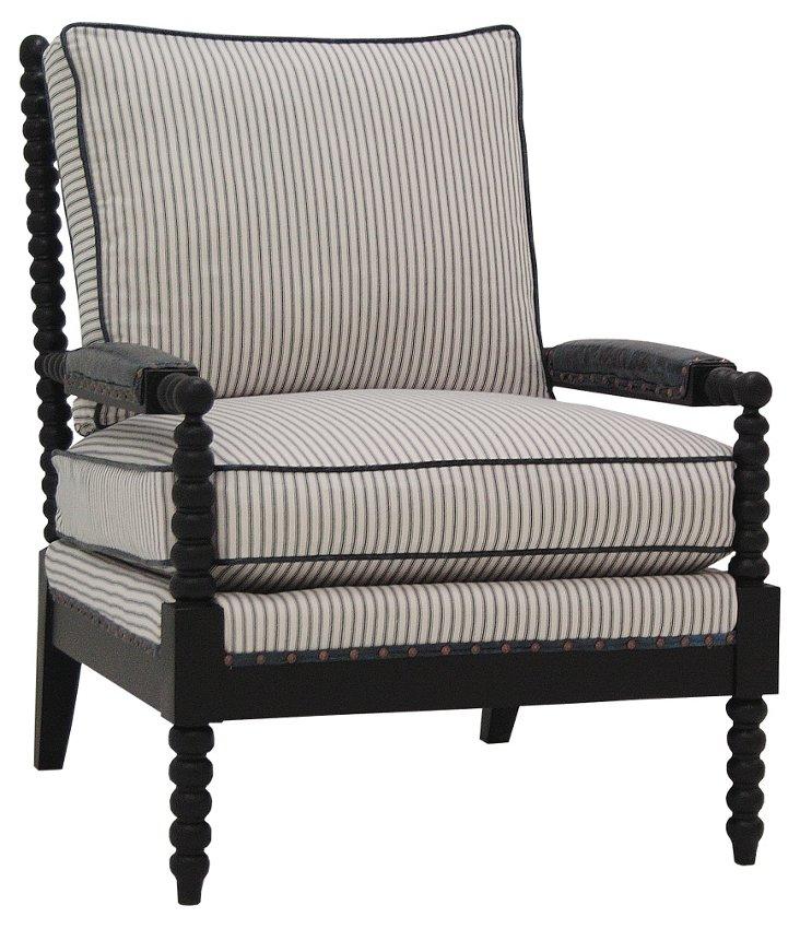 Navy Armchair