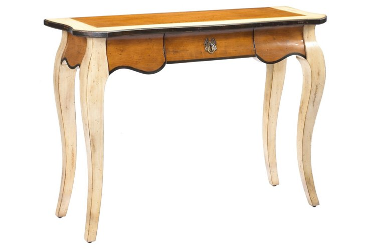 "Passy 44"" Console Table, Toffee/Cream"