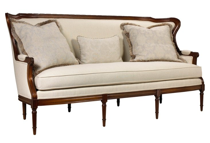 "DNU, DISC Lawrence 82"" Cotton Sofa"