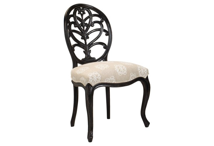 Bianca Side Chair, Black