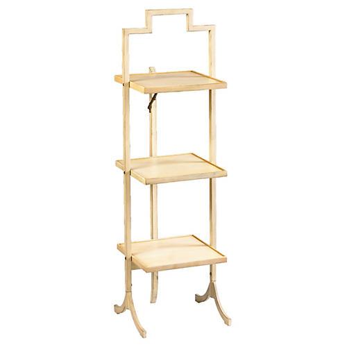 Small Tamsin Folding Shelf, Ivory