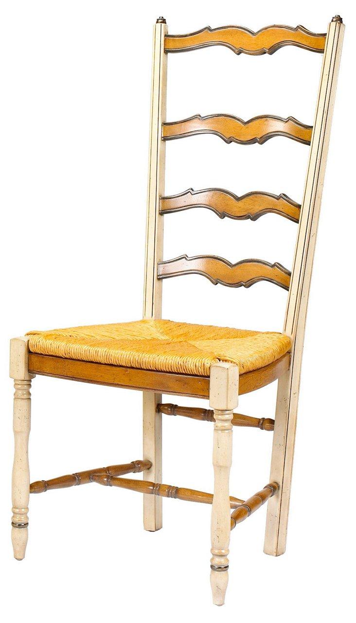 Moisson Ladderback Side Chair, Straw