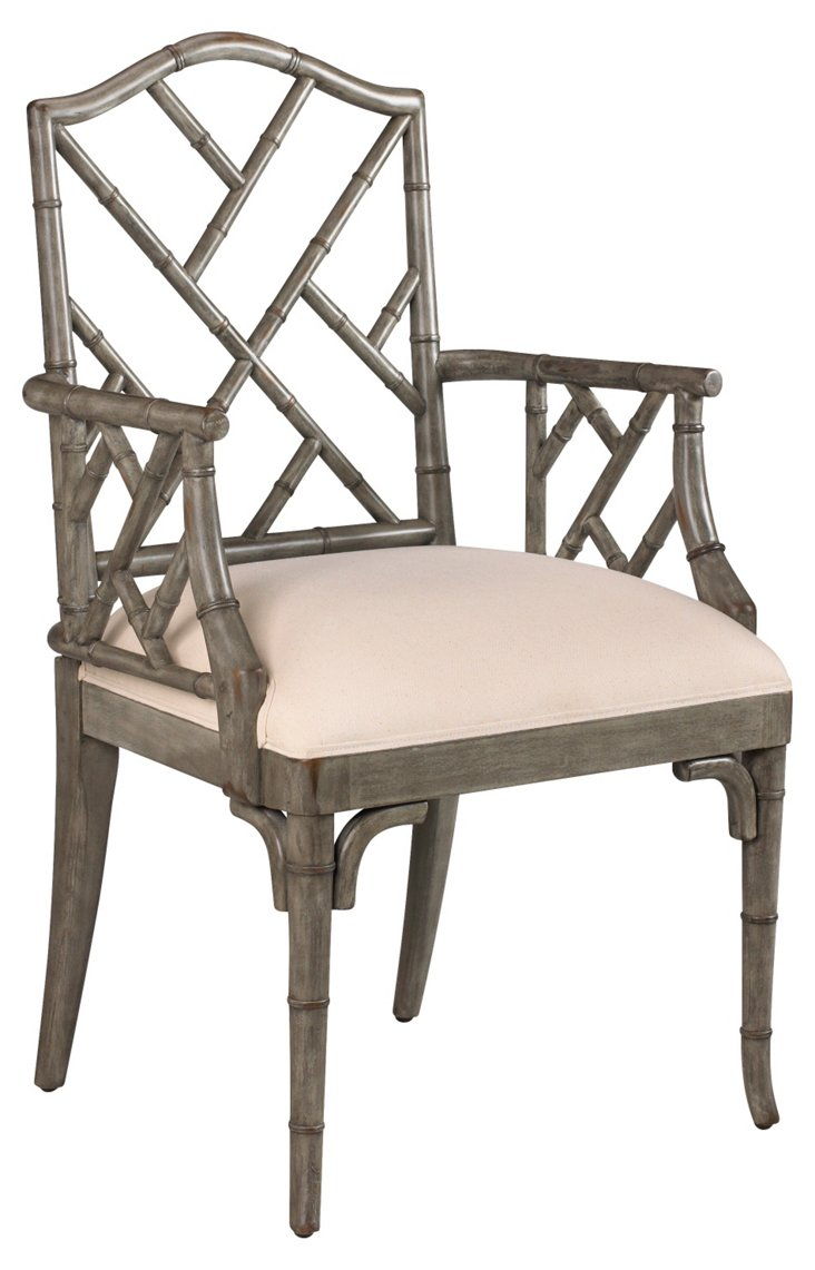 Moselle Armchair, Gray/Ivory