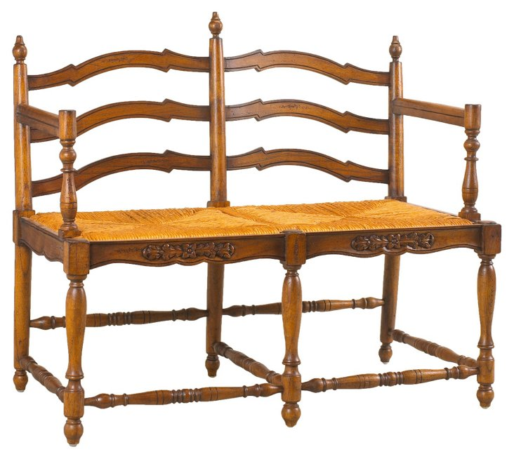"Normandy 40"" Bench, Toffee/Straw"