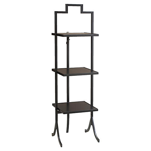 "Hemsworth Folding 13"" Bookshelf, Black"