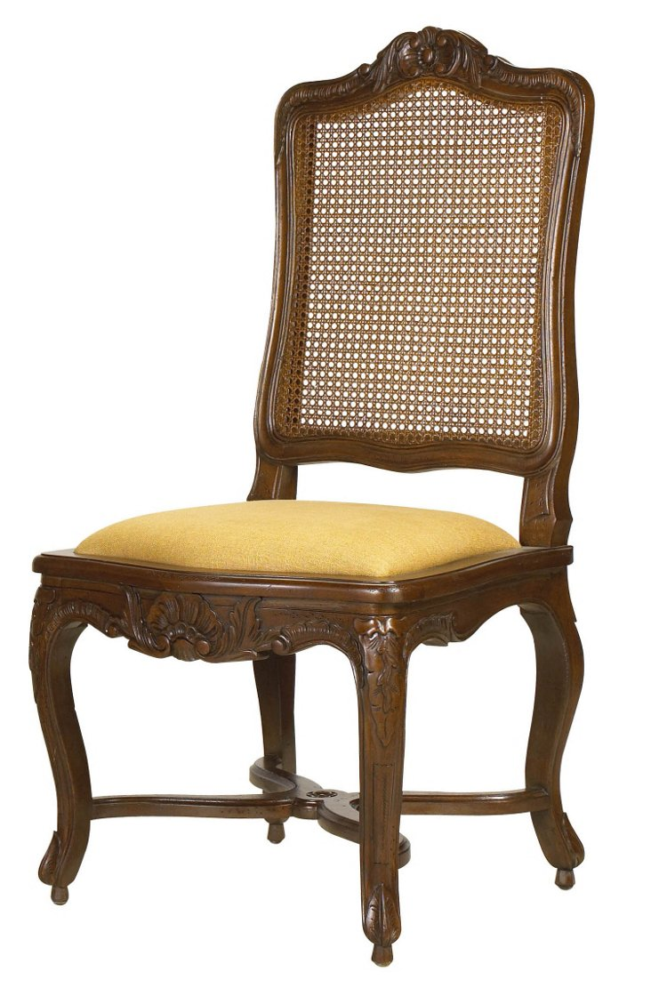 Regence Caned Side Chair, Gold