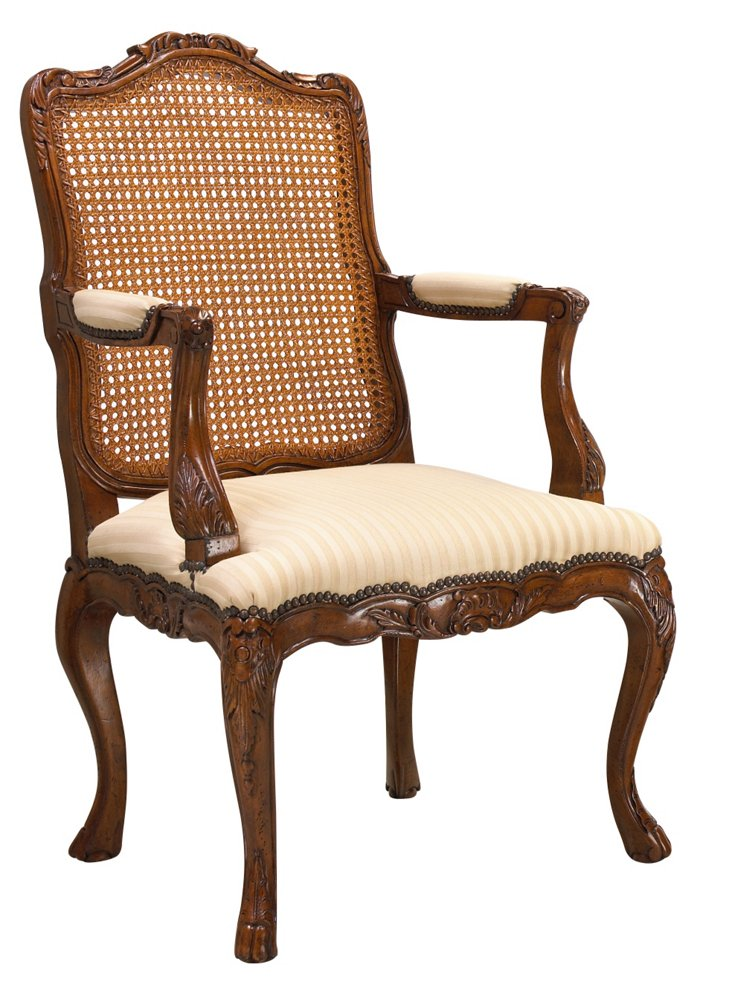 Kent Armchair, Ivory/Champagne