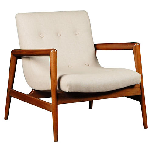 Gustav Chair, Cherry/Natura Linen