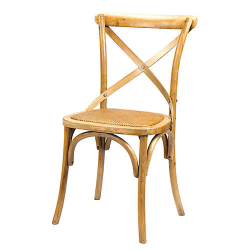 Bosquet Oak Side Chair, Almond