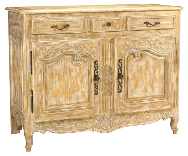 "Mirambeau 53"" French Buffet, Gold Dust"