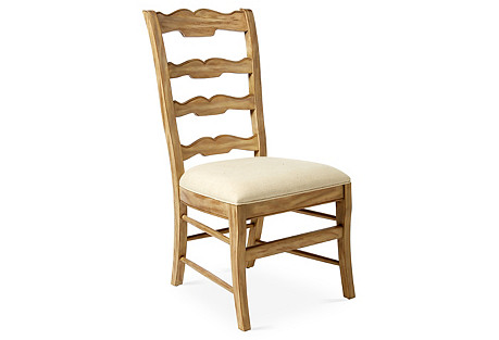 Beaujolais Ladderback Side Chair, Ivory
