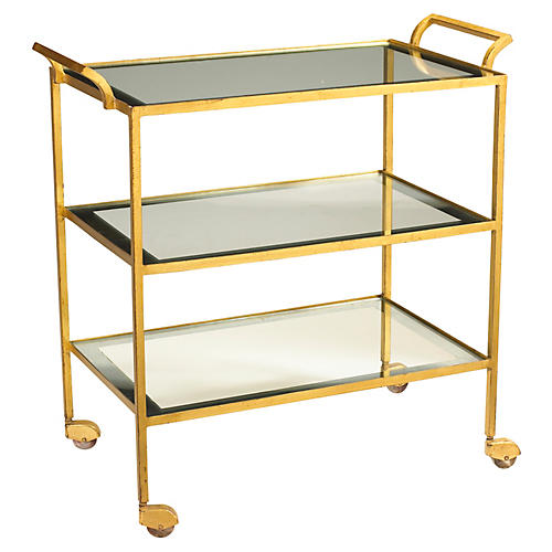 Rhone Bar Cart, Gold