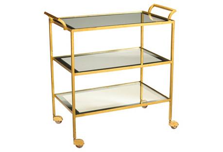 Rhone Bar Cart, Gold