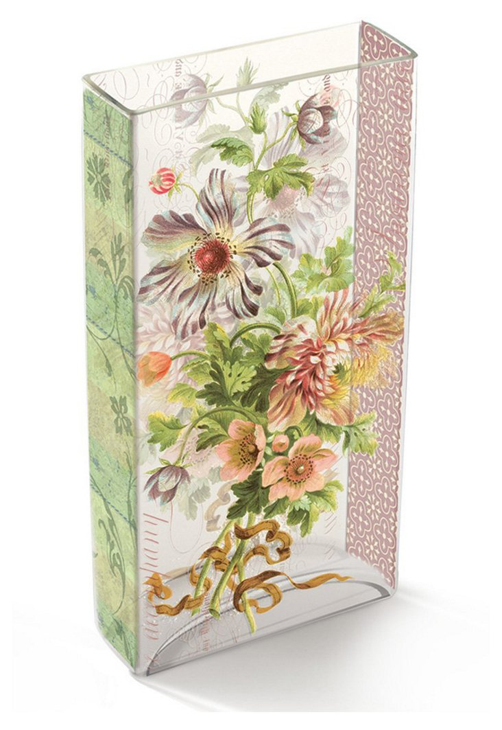 "12"" Bouquet Tiffany Glass Vase"