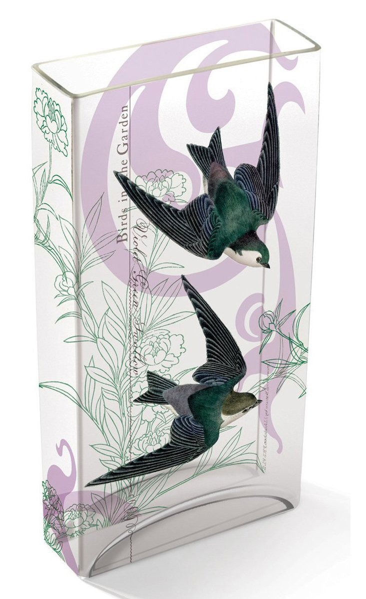 "12"" Swallow Tiffany Glass Vase"
