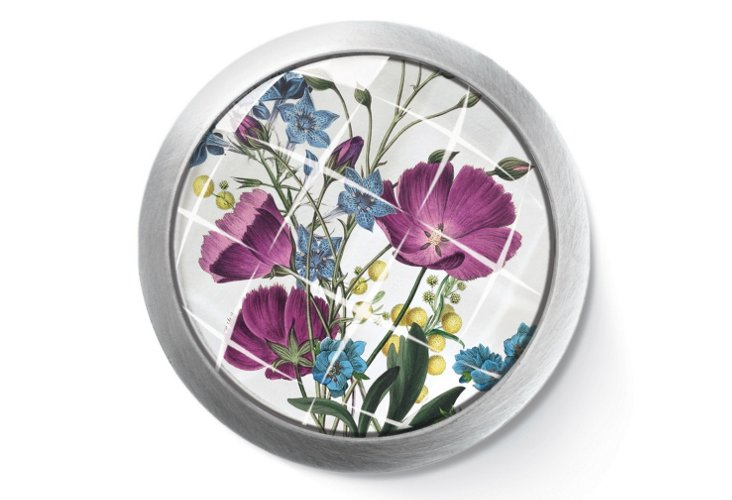 Purple Poppies Jewelry Box