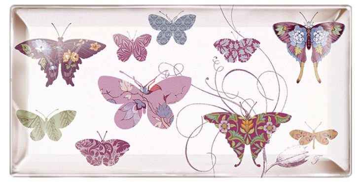 9x5 Butterflies Tray