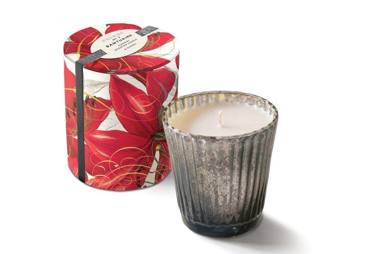 Amaryllis Mercury Glass Candle