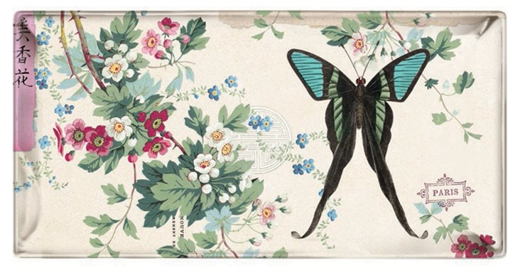 9x5 Black Tail Butterfly Tray