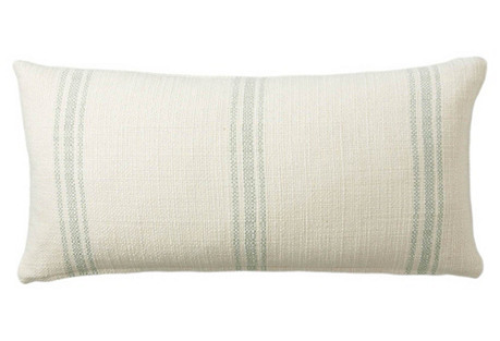 Classic Striped 12x24 Pillow, Spa
