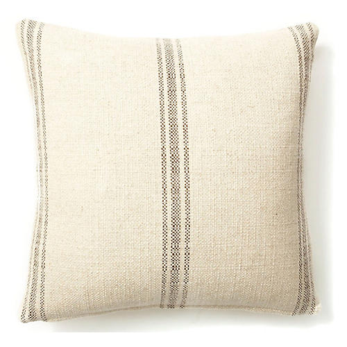 Classic Striped 20x20 Pillow, Godiva