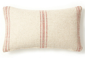 Classic Striped 10x20 Pillow, Red