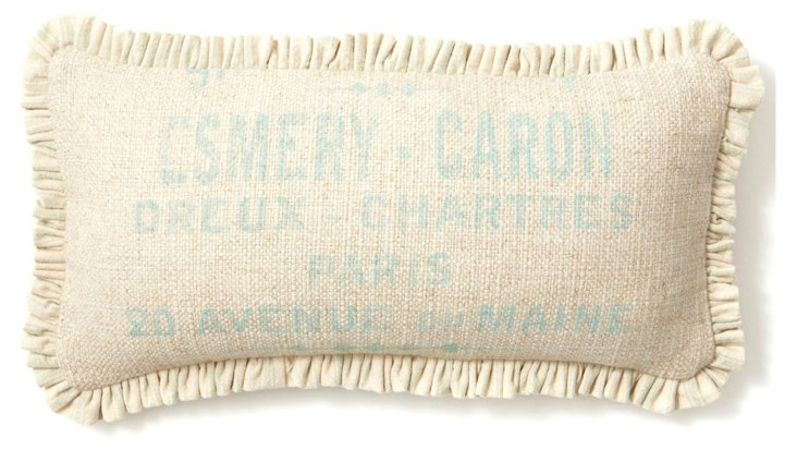 Ruffle 10x20 Pillow, Natural