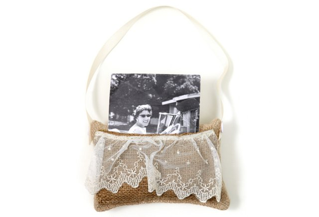 Pocket Gift Pillow, White & Oyster