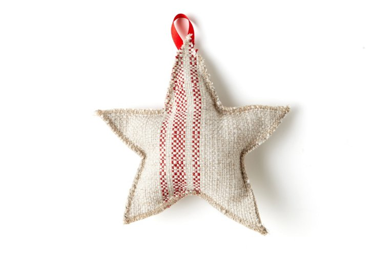Star Ornament, Small, Red