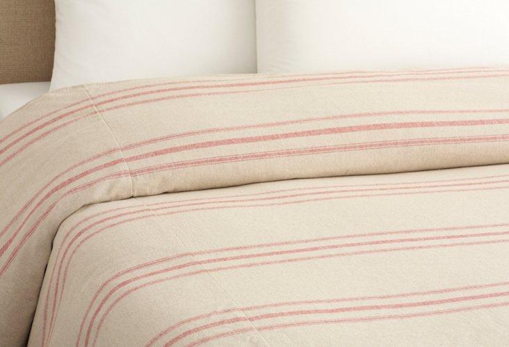 Renoir Stripe Duvet, Red