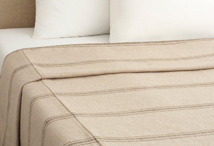 Classic Stripe Coverlet, Godiva