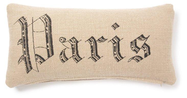 Paris 12x24 Pillow, Natural