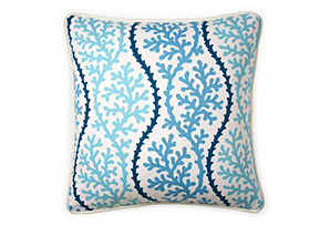 Coral 20x20 Pillow, Blue