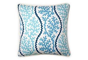 Coral 20x20 Pillow, Blue