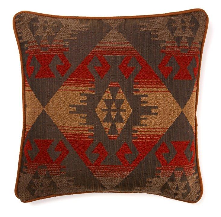 Western 20x20 Pillow, Brown/Multi